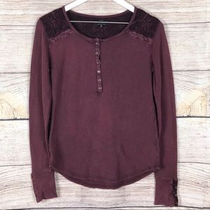 Lucky Brand | Embroidered Thermal Top